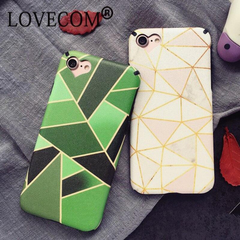 Moda abstracto geométrico triángulo caja del teléfono para iphone 6 6 s plus 7 7