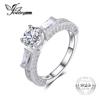 3 Stone Zirconia Anniversary Engagement Ring Fabulous Vintage 925 Sterling Silver Women Jewelry Exquisite Wedding Ring