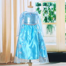 2017 New Arrival Dresses Girls Princess Anna Elsa Cosplay Costume Kid's Party Dress Kids Girls Clothes