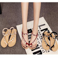 Free shipping 2016 summer leisure female sandals wedge diamond shoes elastic students sandals