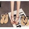O envio gratuito de 2016 sandálias de verão lazer feminino estudantes sandálias cunha sapatos de diamante elástico