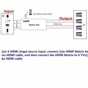 Image 4 - 4K * 2K 3D HDMI مصفوفة التبديل الجلاد 4X4 IR/RS232 التحكم الذكور موصل DTS /AC3/DSD امدادات الطاقة ل HDTV عرض شحن مجاني