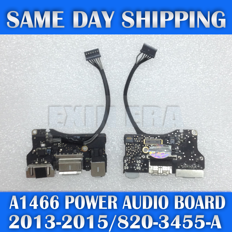 ORIGINAL DC IN USB Jack Power Audio DC-IN Board 820-3455-A for Apple MacBook Air 13 A1466 2013 2014 2015 Year MD760 MJVE2