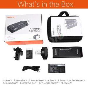 Image 2 - GODOX AD200 200Ws TTL 2.4G HSS 1/8000s Tasca Luce del Flash Esterno A Doppia Testa con 2900mAh batteria al litio Torcia Elettrica Flash