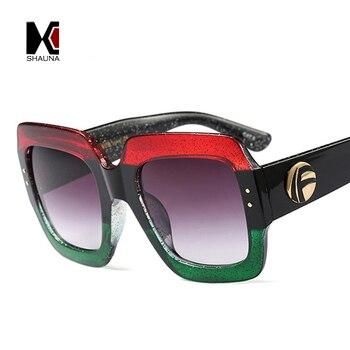e38417f62d SHAUNA colorido perla efecto Marco de las mujeres de la moda de gafas de sol  de marca de diseñador de los hombres populares de lente tonos UV400