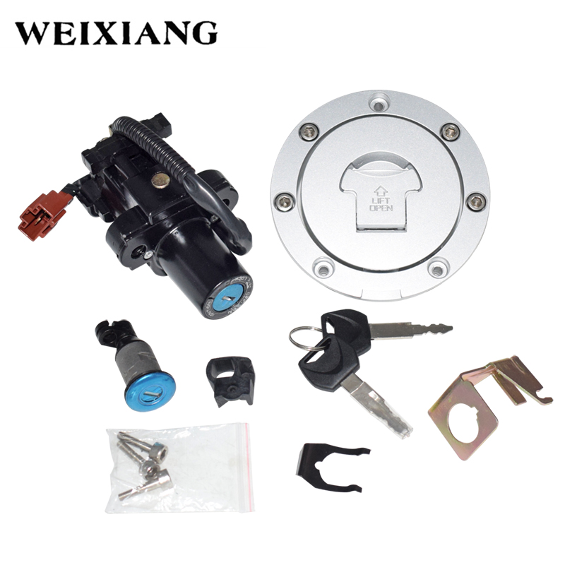 For Honda CBR 600 600RR 1000 1000RR 2008-2014 Motorcycle Ignition Switch Lock Fuel Gas Cap Tank Cover Locking With Key F3 F2 F4