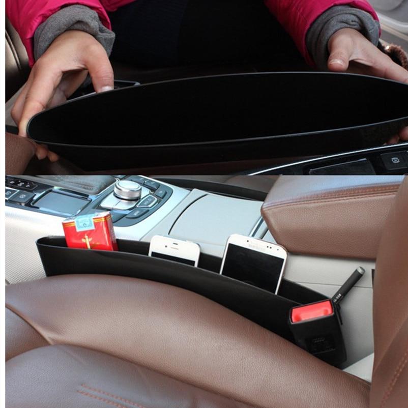 2 unids Asiento de Coche Caja de Almacenamiento de Bolsillo - Accesorios de interior de coche - foto 6