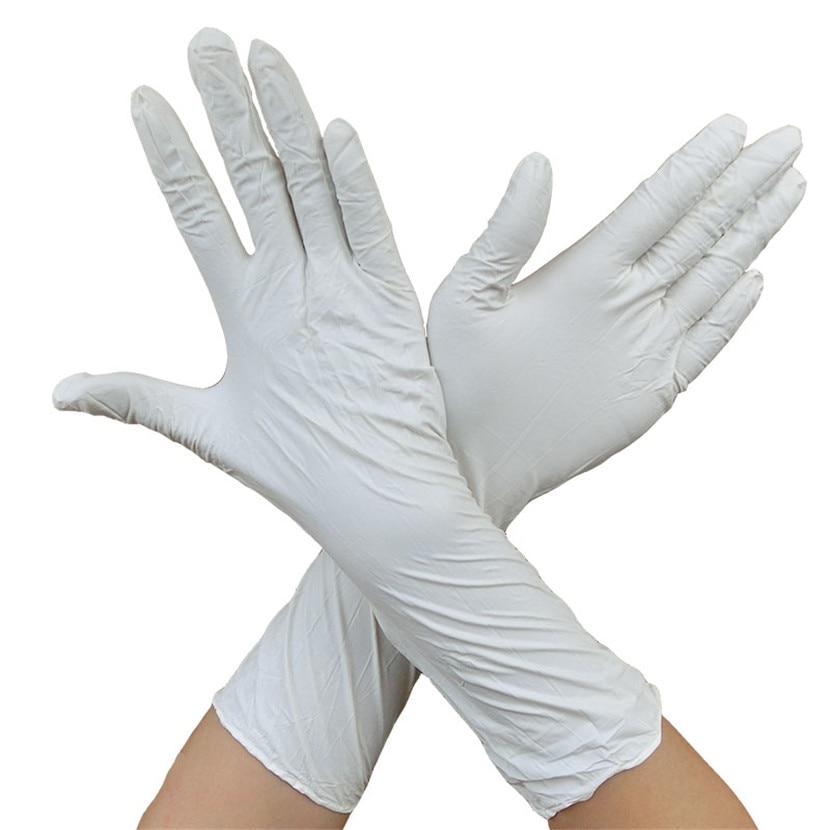 100 vnt ilgos vienkartinės nitrilo latekso medicininės pirštinės, - Sauga ir saugumas - Nuotrauka 2