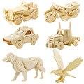 3D Деревянные Головоломки дети Автомобиль автомобиль DIY Головоломки Деревянные Игрушки для Детей и Взрослых Ручной Обучения Образовательные Игры, Игрушки