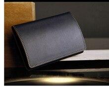 Magnetverschluss Echtem Leder bussiness visitenkarte fall bank kartenhalter box organizer brieftasche