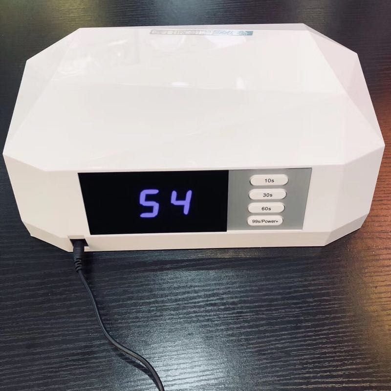 48w nail dryer dual uv led nail lamp gel polish curing light with bottom 30s 60s timer lcd display lamp for nails nail dryer 72W Diamond Nail Dryer Dual UV Lamp LED Nail Lamp Gel Polish Curing Light with Bottom 30s/60s Timer LCD display lamp for nails