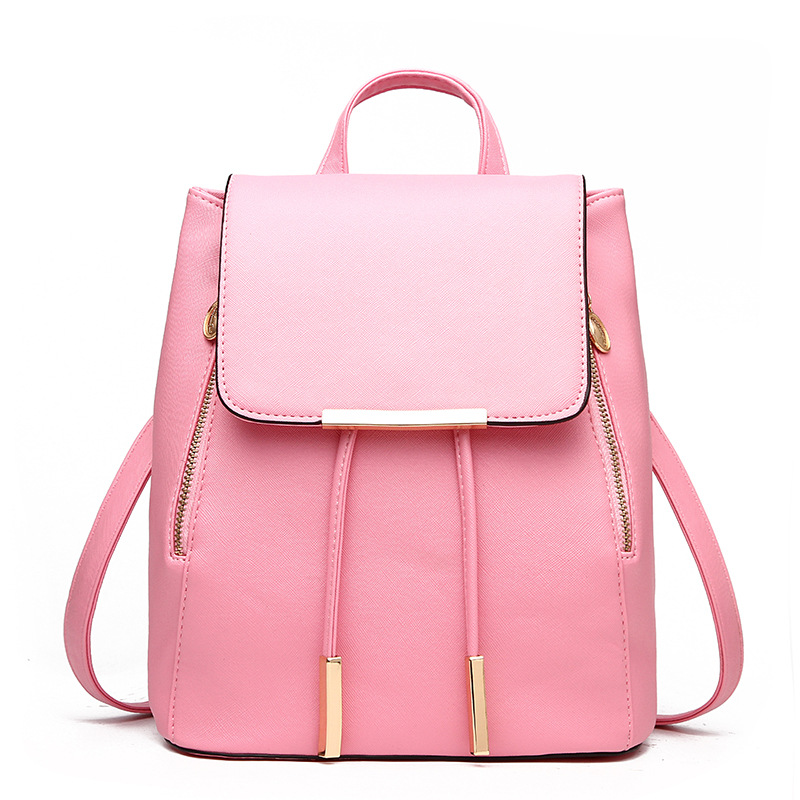 e5fb029be5d8 Women Backpack PU Leather Mochila Escolar School Bags For Teenagers Girls  Top handle Backpacks Herald Fashion Travel Bag ZX021-in Backpacks from  Luggage ...