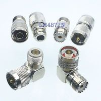Kit Adapter 6pc Set PL259 SO239 UHF To N Male Female RF Connector Test Converter