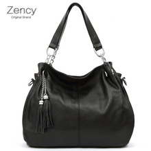 Genuine Leather Women Tassels Bags Soft Cow Leather With Long Shoulder Strap Bag Girl Handbag Tote