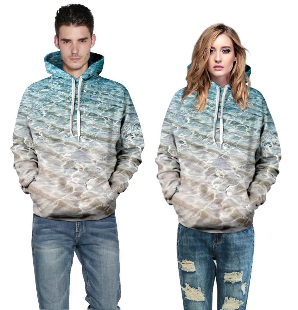 Men/Women Hoodies Hooded Jacket 3d Print Sea Beach Men Sweatshirt Long Sleeve Cap Hoodies lovely Tracksuit Hoody Sweatshirt