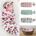 Roupas Floral Doce Moda Estilo Bonito de Algodão Orgânico Do Bebê recém-nascido Cobertor Swaddle Saco de Dormir Sleepsack Carrinho Envoltório