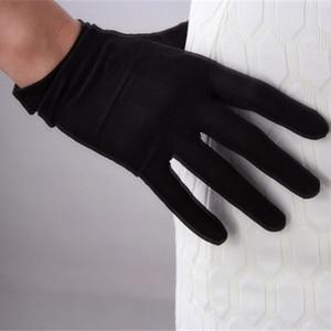 Image 2 - Silk Gloves 23cm Natural Silkworm Silk Elastic Sunscreen Beauty Short Style Women Black Touchscreen Bride Gloves WZS02
