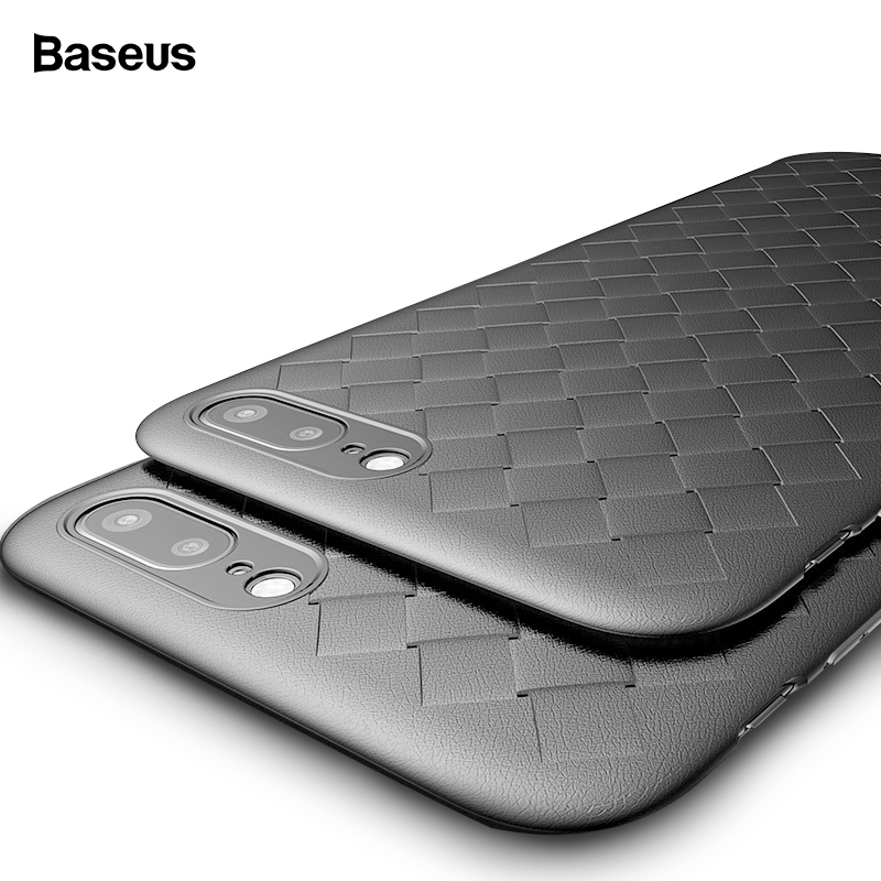 Plaid Grid Case For iPhone X 8 7 Cover Case Baseus Luxury Ultra Thin Soft TPU Silicone Capinhas For iPhone 8 7 Plus Coque Capa iPhone 8