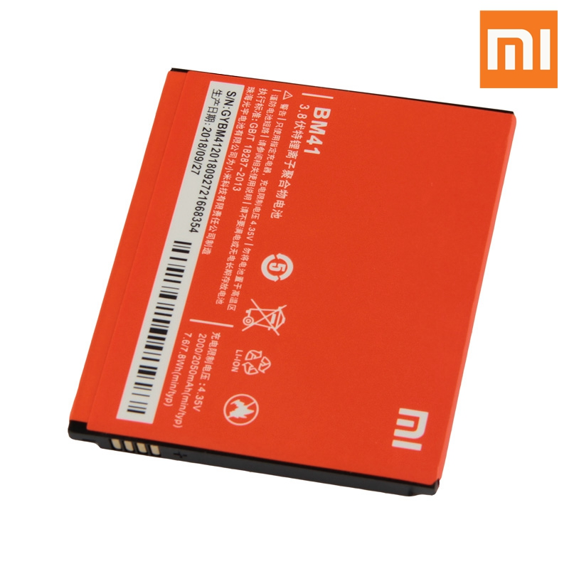 Xiao Mi <font><b>Original</b></font> BM41 <font><b>Battery</b></font> For <font><b>Xiaomi</b></font> <font><b>RedMi</b></font> <font><b>1S</b></font> RedMi2 <font><b>RedMi</b></font> 2A <font><b>RedMi</b></font> 1 S BM41 Genuine Replacement Phone <font><b>Battery</b></font> 2050mAh image