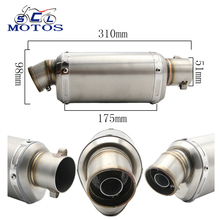 Sclmotos 51mm Muffler Motorcycle Yoshimura Exhaust Pipe suit for  Z750 YZF YZR R1 E6 TTR GSXR750 CBR CB400 CB600 CBR1000