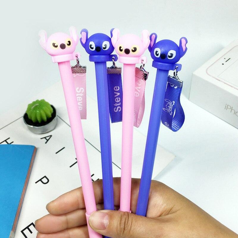 2 Pcs/lot Stitch Steve Erasable Blue Ink Gel Pen Promotional Gift Stationery School & Office Supply
