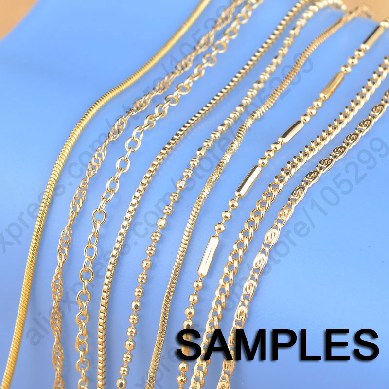 Jexxi Sample 9pcs Mix 9 Styles 18 Quot Yellow Gold Filled