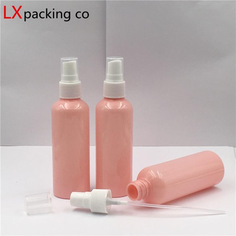 50 шт. 30 мл 50 мл 100 мл розовых пластиковых ПЭТ Мини спрей бутылки опрыскиватель Пустой Распылитель для парфюмерии духи маленькая сумочка для п...