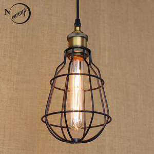 Hardware Lighting lights Loft vintage retro black ball pendant lamp illumination For Kitchen/Cabinet bedroom lights