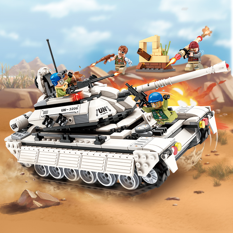 Enlighten New Military Legoe Education Building Blocks Stacking Toy Children Gifts Hero Army Tank Panzer Weapon Gun RPG UN Force