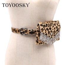 Money Women Belt Bags Fashion Leopard Travel Waist Pouch Belts Purses Wallets Tassel Pack Small PU Leather Bum Bag