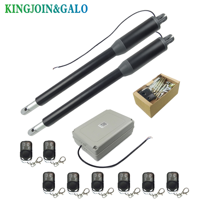 Image 2 - Free shipping Water proof Automatic Swing gate opener C05 Electric Linear Actuator Double arms swing gate motor kit-in Access Control Kits from Security & Protection