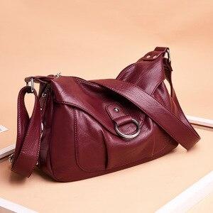 Image 2 - 高級ハンドバッグの女性のデザイナーソフトのレザーハンドバッグショルダーバッグ女性 2019 クロスボディバッグ嚢