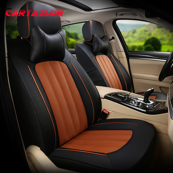 CARTAILOR Car Seat Cover Leather & Leatherette Styling for Audi A8 Seat Covers Cars Accessories Black Automobiles Seats Supports