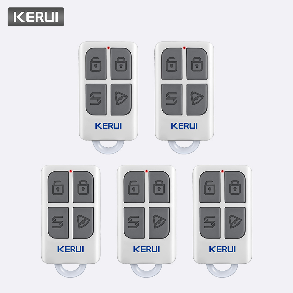 KERUI 5pcs Wireless Portable Remote Control For KERUI W1 W2 W17 W18 W19 G18 G19 G183 G193 8218G Home Alarm System Controller