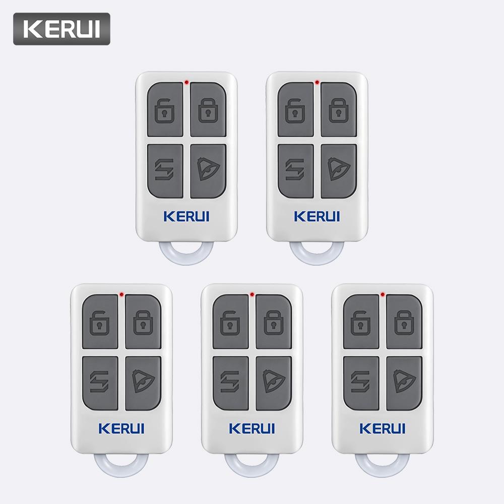 KERUI 5pcs Wireless Portable Remote Control For KERUI W1 W2 W17 W18 W19 G18 G19 G183 G193 8218G Home Alarm System Controller