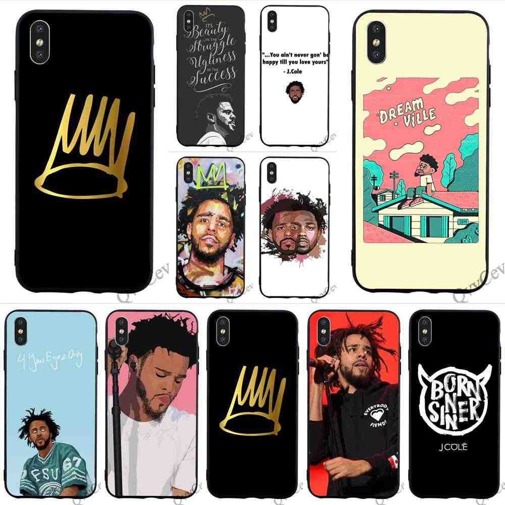Funda de teléfono estampada J Cole Born pecador para iPhone 6 S Plus 8 XR X 7 6 5 5S SE Xs Max