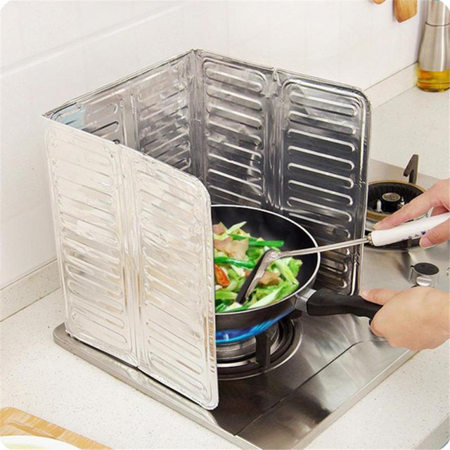 Kitchen Frying Pan Oil Splash Protection Screen Cover Gas Stove Anti Splatter Shield Guard Oil Divider Splash Proof Baffle Tools 1