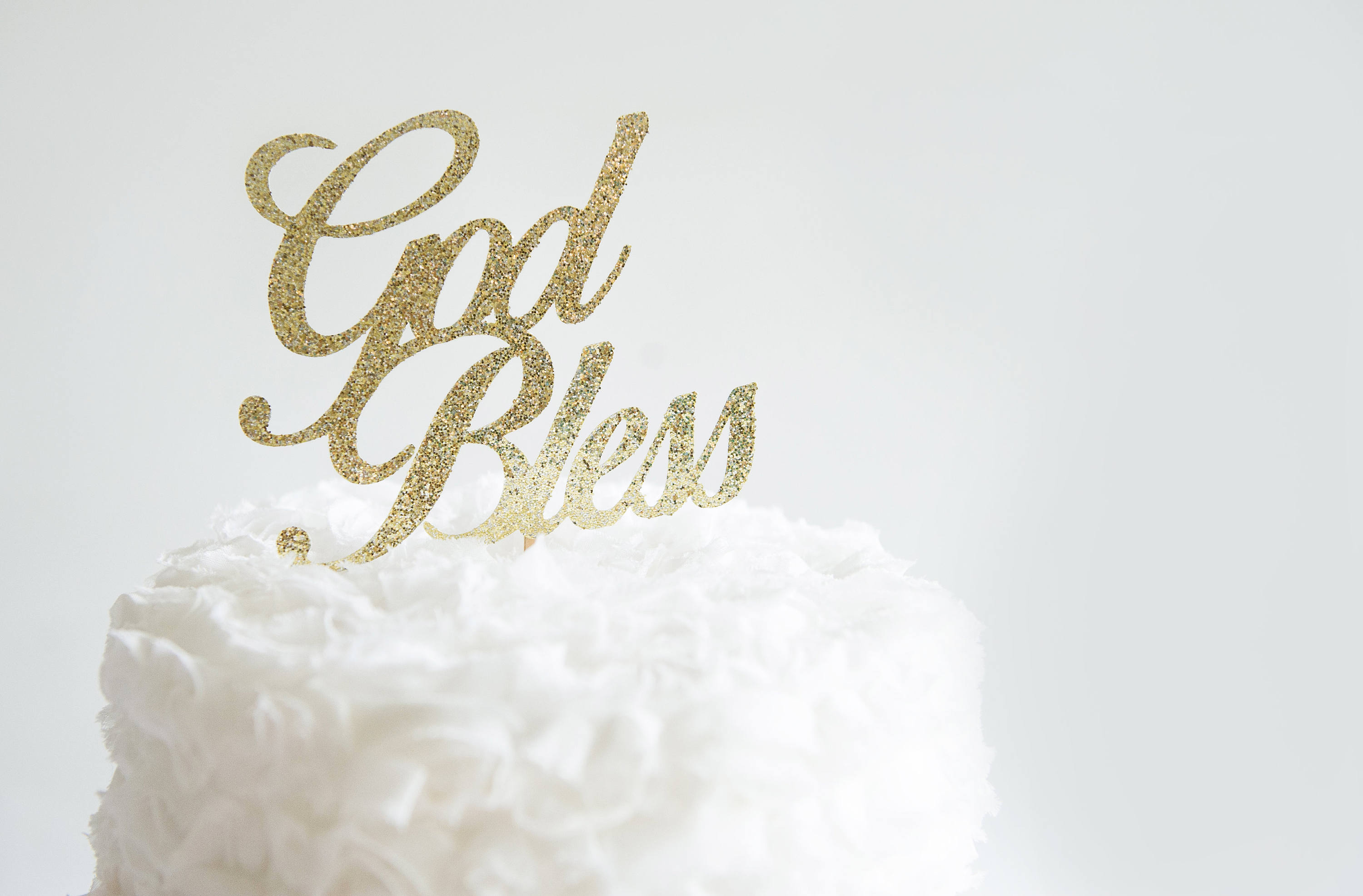 Aliexpresscom Buy God Bless Cake Topper Baptism First Holy