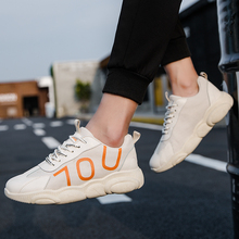 2019 Fashion Trendy Men Shoes Comfortable Light Run Sneakers Increase Mesh Summer Non-slip Lace-up Manual Casual