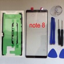 삼성 갤럭시 노트 8 n950 n950f n950fd n950u n950w n950n 기존 전화 터치 스크린 전면 외부 유리 패널 교체