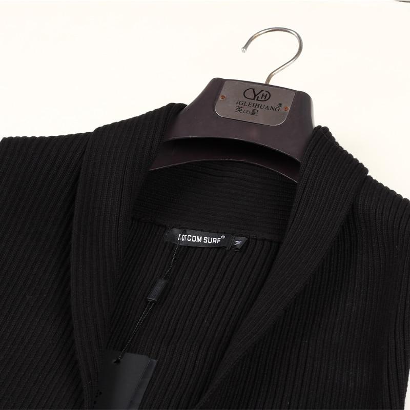 Vêtements Tricoté Manche Sans Personnalité Cardigan Mince Gilet Tendance Chandail De 2016 Costumes Hommes Noir Chanteur qIPESS