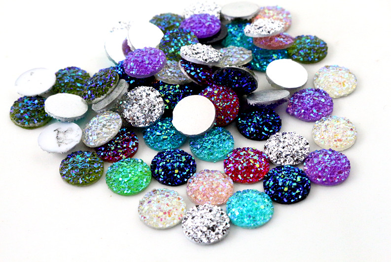 Jewelry-Accessories Cabochons Wholesale-Supplies Natural-Stone Flat-Back-Resin New-Fashion