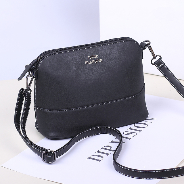 aafbce314475 New fashion Frosted Shell leather small shoulder bags designer women  messenger bags Female brand crossbody bag sac femme