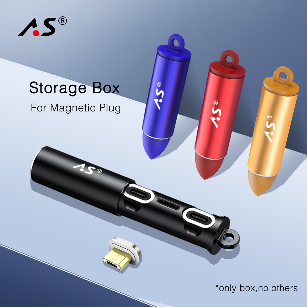 A.S Magnetic USB Cable Plug Box Type C Micro USB C 8 pin