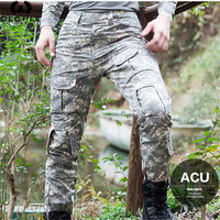 Decple Mens Tactical Military Camouflage Pants Casual Windproof Waterproof Warm Camo Paintball Army Pants For Male