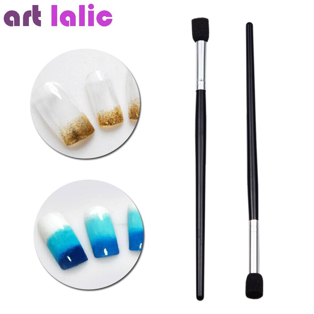 1Pc Nail Art Sponge Stamping Pen Manicure Glitter Powder Transfer Gradient Picking Brush Tools Stamper Brushes