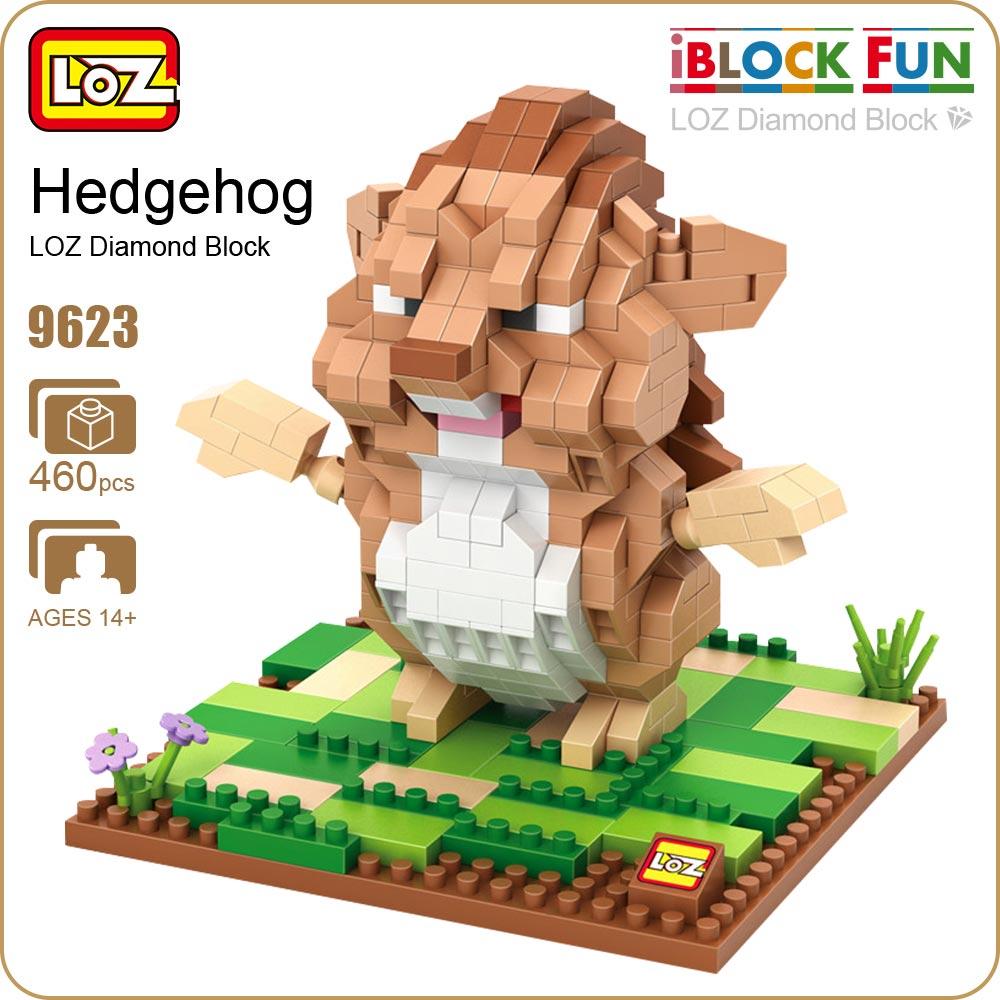 Loz Diamond Blocks Easter Island Statue Famous Architecture Chile 9387 Nano Of Liberty Hedgehog Figure Animal Figures Toys For Children Miniso Particles Building Bricks Mini Block
