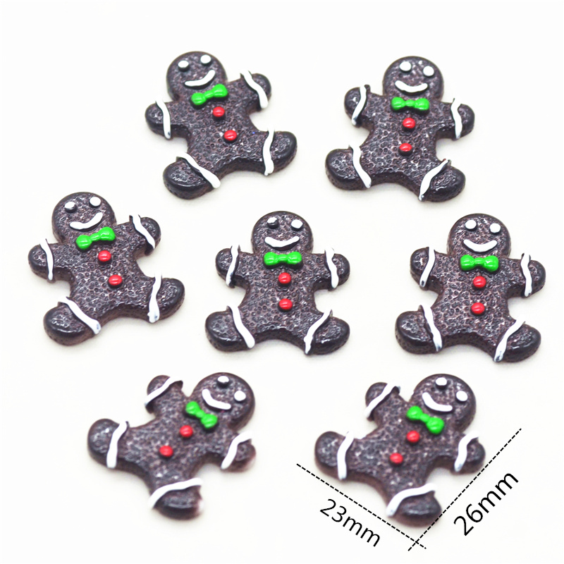 Resin Flatback Gingerbread Man|Christmas Party Decoration Miniatures|Christmas Jewelry Parts|Christmas Home DIY