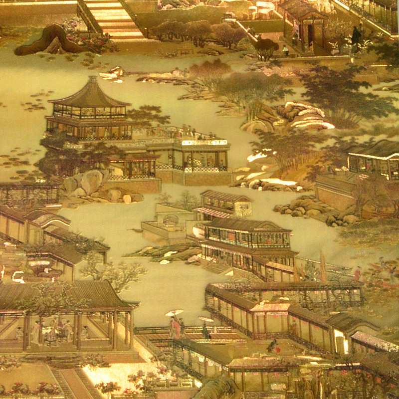 3d chinese style wallpaper gold foil vintage drawing wall