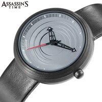 Assassin's Time Men's Watch Round Wheel Creativity Quartz Leather Sport Wrist Watch Clock Top Brand Luxury Waterproof 2018 New
